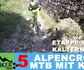 """ETAPPE 5 - Alpencross 2016 mit Kind """"42+9"""" Kaltern-Riva del Garda"""
