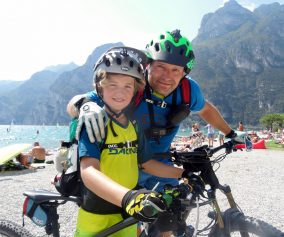 Tegernsee-Gardasee Mountainbike Alpencross mit Kind